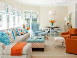 Orange And Blue Living Room Decor Living Room Beautiful Living Room Colors Ideas More Living Room