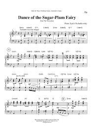 dance of the sugar plum fairy sheet music dance of the sugar plum fairy from the nutcracker keyboard or