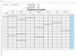 Download Employee Weekly Work Schedule Template Excel 5 4 9 Blank
