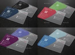 Translucent Plastic Business Cards 26 Transparent Business Card Templates Illustrator Ms
