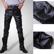 1pcs casual pants tight pants mens leather pants locomotive leather pants mlyh71532