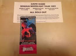 Popsike Com David Bowie 1983 Ticket Stub Flyer Serious