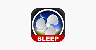 bed time fan white noise sound on the app