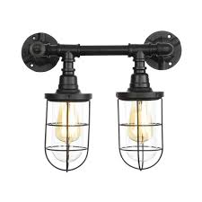 High End Light Fixtures Ganeep Iron Glass Lampshade Loft Style Creative Water Pipe