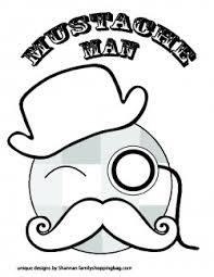 Small Picture Color Page 4 Mustache Coloring Pages Free Printable Ideas from