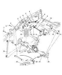 2007 dodge durango suspension rear springs shocks and control arms diagram i2166305