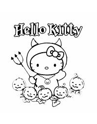 Stampa Disegno Di Hello Kitty Halloween Da Colorare