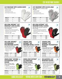 Ansi Cut Level Gloves Chart Safety Catalog