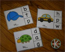 Worksheet for (very) young learners who have just started reading. Free Ending Sounds Clip Cards Activity