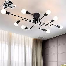 4 6 8 way retro ceiling light metal pendant lamp