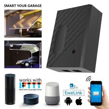 the device enables remote control of your garage door opener through the mobile ewelink available on both android and ios