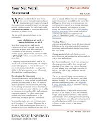 Networth Form 9 Net Worth Statement Samples Pdf Excel