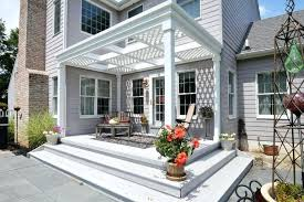 pergola plans attached to house free deck with pergola plan from home stratosphere pergola ideas attached