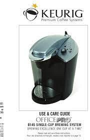 keurig officepro b145 use care manual