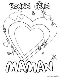 Coloriage Bonne Fete Maman Coeur Dessin Coeur A Colorier Pour MamanlL
