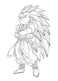 Facile Dragon Ball Gotrunks Fusion Goten Trunks Coloriage Dragon