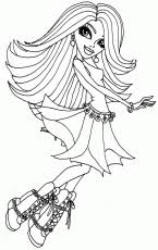 Small Picture Monster High Spectra Vondergeist Coloring Pages Free Printable