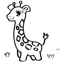 Giraffes Coloring Pages Uticureinfo