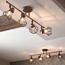 full image for replace track lighting basement led for hallway long dark