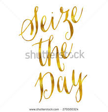 Seize The Day Quotes Mesmerizing Seize Day Carpe Diem Gold Faux Stock Illustration 48