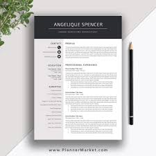 Professional Resume Template 3 Page Cv Template Creative Modern