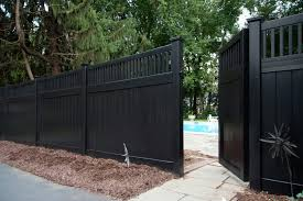 Modern Black Vinyl Fence With Arched PVC Vinyl White Picket Fence