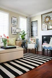 black and white striped rug contemporary a new living room stripes for the win interiors 14