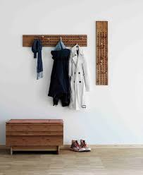 Vertical Wall Coat Rack Wallmounted coat rack contemporary wooden SCOREBOARD by 30