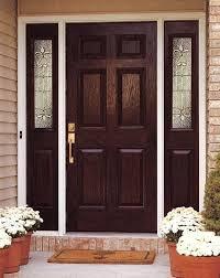 doors hung exterior hardwood door with 6 panel mosaic glass steel home depot mosai 6 panel glass exterior door