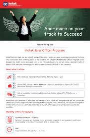 Recruitment Jobs Vacancies Kotak Bank Careers