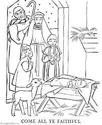 Small Picture Nativity coloring pages sunday school Pinterest Holidays