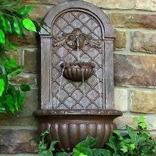 solar wall fountain small water fountains for patios outdoor