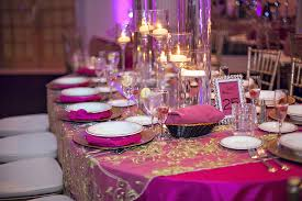 Fascinating Gold And Fuschia Wedding Decor 18 On Wedding Reception Table  Decorations With Gold And Fuschia