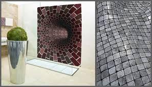 3d effect bathroom mosaic tile designs