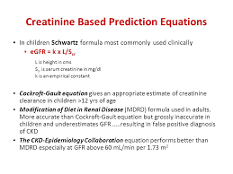 15 creatinine based prediction equations