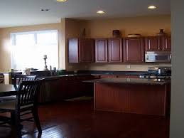 Delighful Dark Kitchen Cabinets Colors Wall Color For With Design Decorating