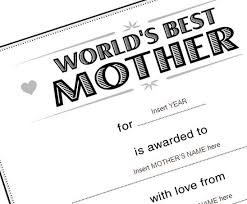 Best Mother Certificate Template To Use On Mothers Day Lesson