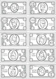Play Money Coloring Pages Money Coloring Sheets Play Money Coloring