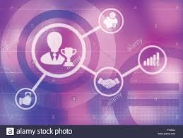 Illustrative Icons Of Business Champion Business Meeting