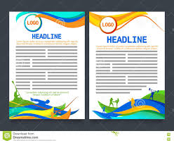 Two Page Brochure Template Two Page Brochure Template For Sports Concept Stock Illustration