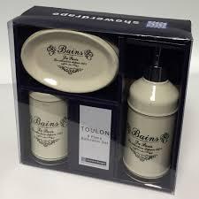 Bathroom Gift Showerdrape Toulon Bathroom Gift Set 3 Piece Set From Palmers