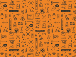 Halloween Pattern Amazing 48 Halloween Patterns By Yiwen Lu Dribbble