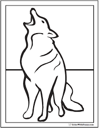 Smart, beautiful, furry animals are not only predators, but also good friends of many forest inhabitants. Wolf Coloring Pages Print And Customize