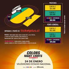 Color Night Lights Chile 2019 Wiz Khalifa Encabeza Cartel De Colors Night Lights Summer