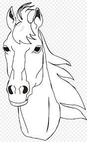coloring book horse head mask australian stock horse drawing clip art horse head