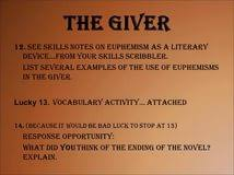 for the giver the giver essay essay