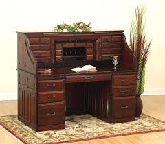 desk deluxe amish roll top desk with optional top drawers solid wood roll top desk