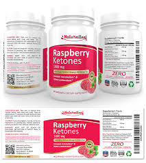 Raspberry Ketones Supplement Label Template Design