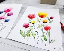 easy watercolor flowers
