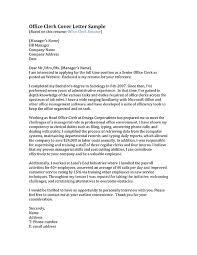 Clerical Position Cover Letter Office Job Cover Letter Sample For Clerk Position Hotelodysseon Info